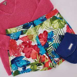 Attention Tropical Print Flat Front Shorts…